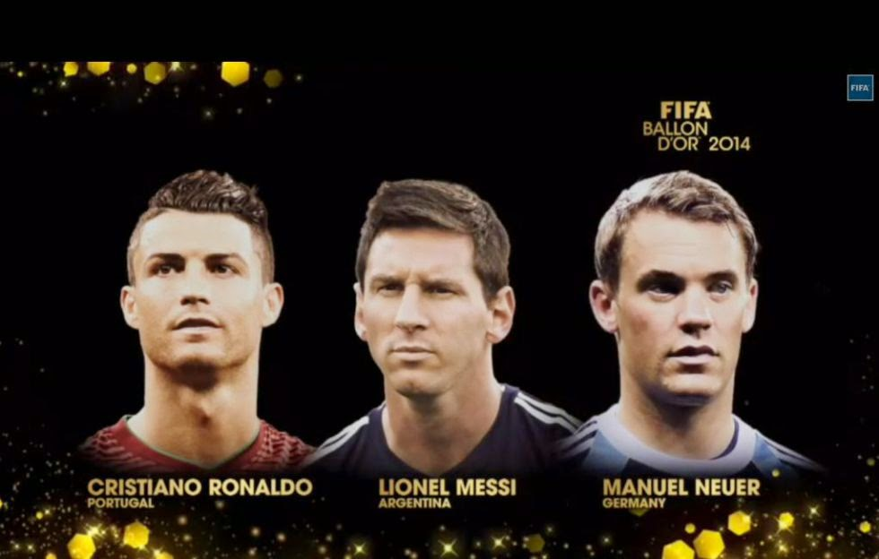 FIFA & France Football has announced the final three candidates for Ballon d'Or 2014
