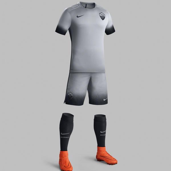 release date: e002d 54d90 Grey Roma Shirt 2015-2016- Roma Third Champions League ...