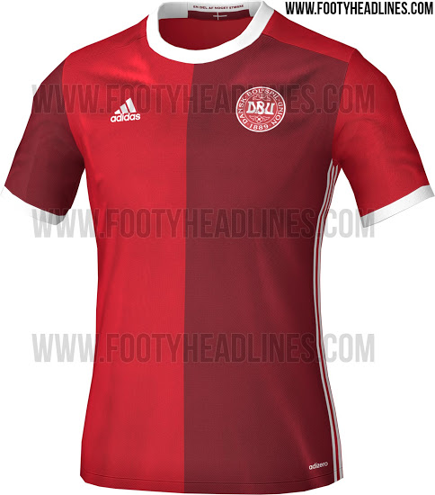 This is the new Adidas Denmark 2016 Jersey.
