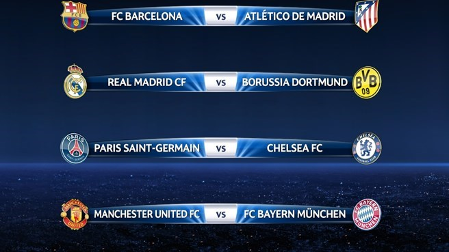 champion league fixtures today