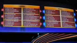 2013-2014 Europa league group stage draws