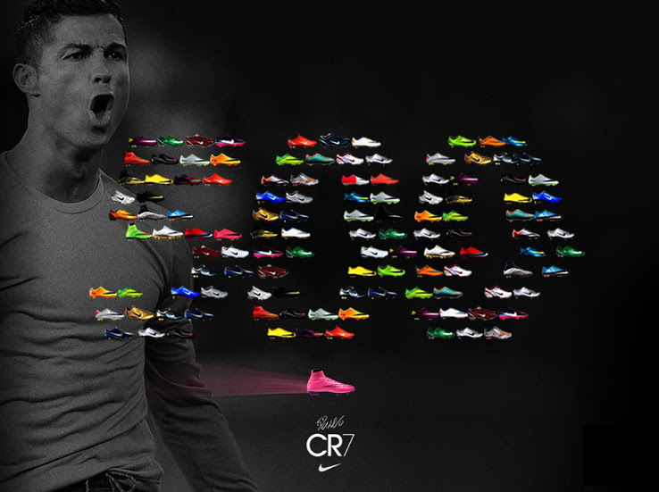 Nike Celebrate Cristiano Ronaldo's 500 Career Goals with Unique Look Back