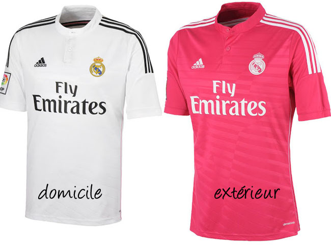 Real Madrid 2014-2015 Home and Away jerseys!