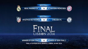 semi final 2014, champions league