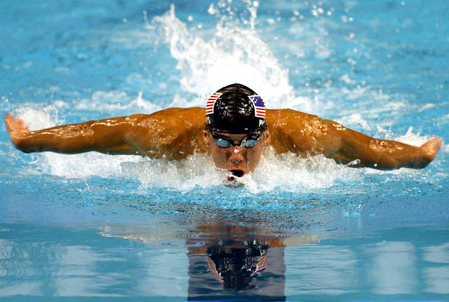 What are the current 2013 world records for the top swimming Events