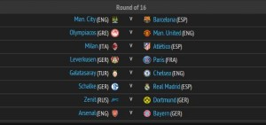 ucl roud of 16 draw results