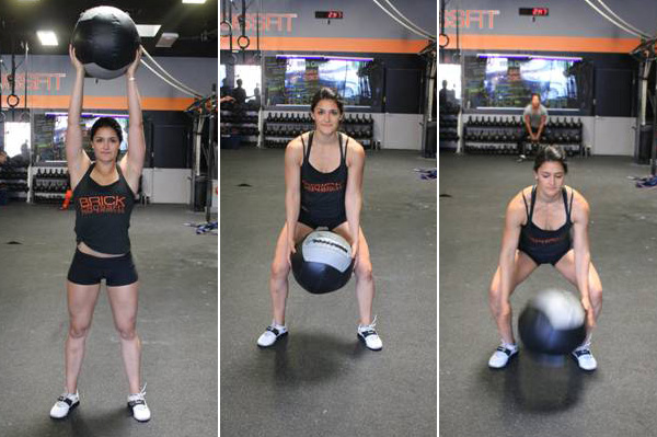 Home Gym Exercises with Slam Balls