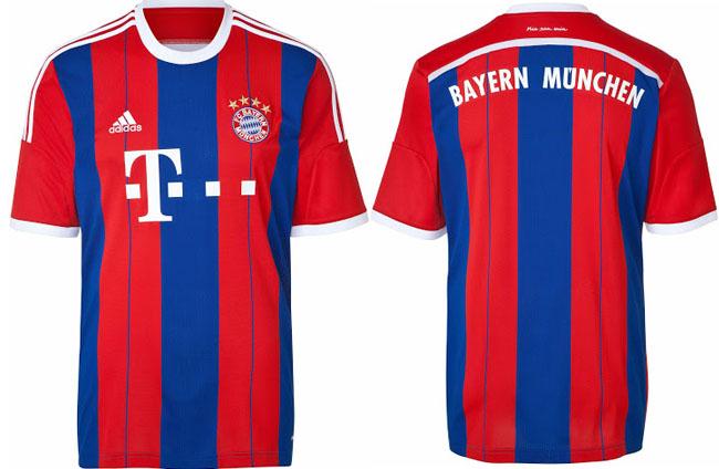 Bayern Munich 2014-2015 jerseys