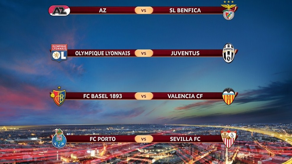 2014 Uefa Europa League : quarter-final fixtures and results